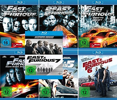 fast and furious 1 7 blu ray Fast and the Furious 1 - 7 Collection (7-Blu-ray)