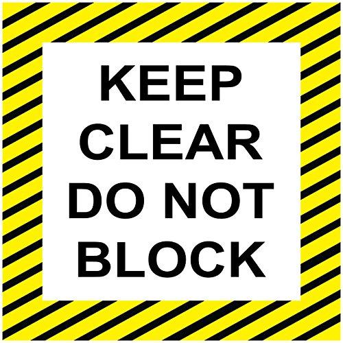 Keep Clear nicht Block schwarz gelb rutschfeste Boden Aufkleber Aufkleber 24 in longest side