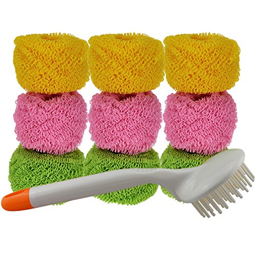 9-packmagic-scratch-free-scourer-for-non-stick-pan-pot-dish-tough-polyester-remove-hard-dirt-easier-