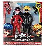 Bandai - 39810 - Pack 2 poupées - Ladybug/Chat - 26 cm - Rouge/Noir