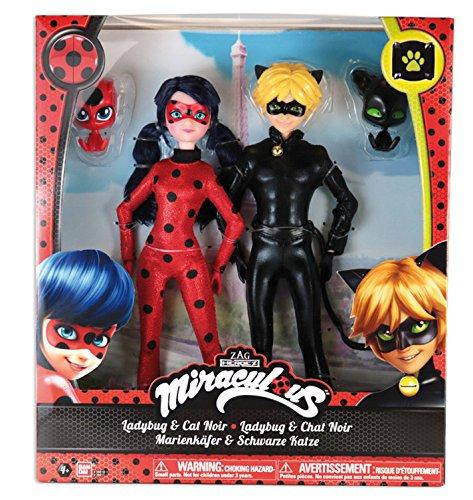 Ladybug- 2er Packung Ankleidepuppen 26cm- Ladybug und Cat Noir- 39810 ()