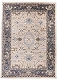Tapiso Colorado Teppich Wohnzimmer Kurzflor Klassisch Orientalisch Beige Grau Floral Ziegler Ornament Muster Orientteppich ÖKOTEX 300 x 400 cm