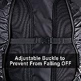 AGPTEK 2-Pack Nylon Waterproof Backpack Rain Cover for Hiking/Camping/Traveling/Outdoor Activities, Black S:18-25L