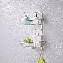 KES Rinconera, 2 pisos, para baño,SUS 304 Acero Inoxidable Cepillado, A2124-2