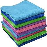 mabu。。。 Verdicken saugfähigen feine Faser rag Wasser saugfähiges fusselfreies Küche Reinigung Handtuch, Grün und lange Kaschmir 40 * 40 cm.