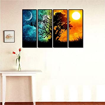 999Store Multiple Frames Wall For Living Room Wall Art Panels With Frame  Printed Tree Painting Framed: Amazon.in: Home U0026 Kitchen Part 83