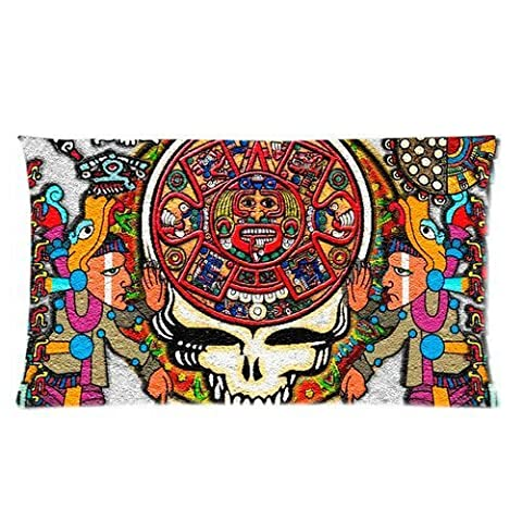 andersonfgytyh Band Grateful Dead Tie Dye Pattern Soft Pillow case Cover 20*36 Inch (Twin sides)Zippered Pillowcase