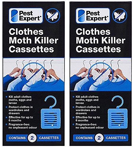 Pest Expert Cassettes de Tueur de Mite (2x paquet double) Nouveau au Marché Formulation Inodoré Avancée