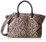 BREE Damen Bag, Taupe/Brown Snake, Icon B. W18 Henkeltasche, Mehrfarbig, 38x12x32 cm