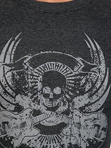 BOLF Herren Pullover Sweatshirts Pulli ohne Kapuze MIX Anthrazit_0531-1