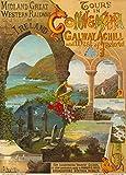 Vintage Travel Irland für Touren in Connemara, Galway, Achill Island und im Westen von Irland mit Midland Great Western Railway 's Turbine Dampfer-für den Sommer von 1906über Fishguard 250gsm, Hochglanz, A3, vervielfältigtes Poster