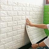 3D Wandpaneele Selbstklebend Steinoptik Tapete 77 X 70 X 0.9 cm Wasserfest Ziegelstein Wandtattoo PVC Verdicht DIY Schaum Panel Weiche Ziegel Anti-Kollision Wandaufkleber,A4
