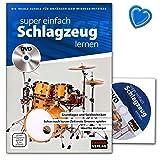 Super einfach Schlagzeug lernen - ideale Schule für Anfänger und Wiedereinsteiger mit DVD und bunter herzförmiger Notenklammer