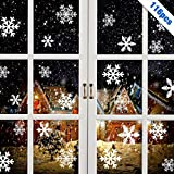 MELLIEX 116 pièces Fenetre Noel Autocollant Flocon De Neige Noel Stickers pour Noel la Domicile Magasin Décoration