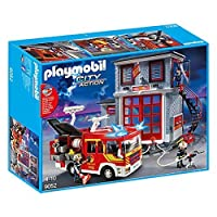 Playmobil 9052 City Action fire Department Mega Set with pump