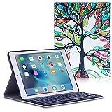 MoKo Apple iPad Pro 9.7' Case - Tastiera Bluetooth Senza fili QWERTY ( Versione Americana ) Custodia per Apple iPad Pro 9.7 Inch 2016 Release Tablet, Fortunato ALBERO immagine