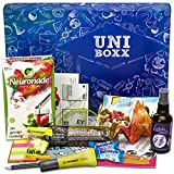 Uni-Boxx (13 Teile) Geschenk für Studenten zur Lernmotivation in Studium & Prüfungszeit - Geschenkbox mit Neuronade, Studentenfutter, Riegel, Ohropax und vielen Lernhilfen!