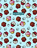 Notebook. Blank Lined College Ruled Composition Notebook Journal Diary - Funny Cute Cupcakes Pastry Cover Design Collection. Large Size Notepad For ... Sweet Cake Lovers. 8.5 x 11. 120 Paper Pages.
