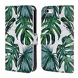 Head Case Designs Officiel Nature Magick Tropical Vert Feuilles Tropicales De Palmier sur Marbre Coque en Cuir à Portefeuille Compatible avec iPhone 5c