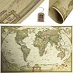 MESE London World Map Vintage Wall Po...