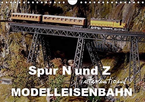 Spur N und Z international, Modelleisenbahn (Wandkalender 2020 DIN A4 quer): Modellbahnanlagen und Dioramen in N und Z (Monatskalender, 14 Seiten ) (CALVENDO Hobbys)