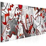 murando Quadro Astratto Come Wassily Kandinsky 120x40 cm Stampa su Tela in TNT XXL Immagini Moderni Murale Fotografia Grafica Decorazione da Parete 1 Pezzo Come Dipinto l-A-0021-b-a