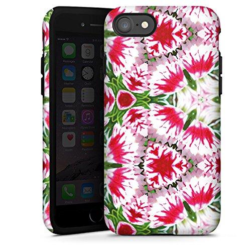 Apple iPhone X Silikon Hülle Case Schutzhülle Modern Kaleidoskop Blumen Tough Case glänzend