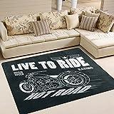 INGBAGS weich mit Motorrad-Rennen Schriftzeichen Teppiche Wohnzimmer Teppich Schlafzimmer Teppich für die Kinder, mit fester Home Decorator Teppich Boden Matte Teppiche 63x 48cm, multi, 80 x 58 Inch