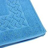 Tappetino da bagno 50x 80cm ROYAL CRESENT Blu Celeste 850g/m2