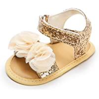 Auxma Baby Girls Fashion Summer Sandals Baby Princess Shoes 0-6 6-12 12-18 Months