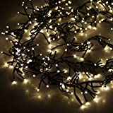 Multistore 2002 768er LED Cluster - Lichterkette 7,5m inkl. Zuleitung/LED-Lichter Warmweiß / 8 Leuchteffekte/Indoor & Outdoor