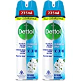 Dettol Disinfectant Sanitizer Spray Bottle (Pack of 2) | Kills 99.9% Germs & Viruses | Germ Kill on Hard and Soft Surfaces (S