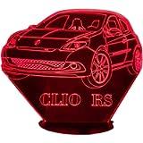 REN. CLIO RS, Lampada illusione 3D con LED - 7 colori.