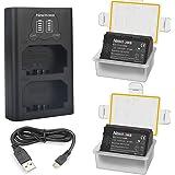 Newmowa NP-FZ100 Batería de Repuesto (Paquete de 2) y Smart LCD Cargador Dual USB para Sony NP-FZ100,BC-QZ1 y Sony a1,Sony a6