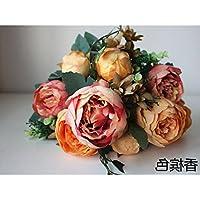 Fiori di seta bouquet di rose di emulazione stanza vivente con pezzi di Fake Playmate arredi, fiore - Fiore Di Seta Accenti