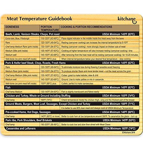 Fleisch Thermometer Magnet-Kühlschrank Temp Grill Magnet-Temperatur BBQ Diagramm-Kochen Guide-Küche Umrechnungstabelle-Cook Best Steak Huhn Türkei Schwein Fisch Burger Rippen-Chef Choice (Bbq-chart)