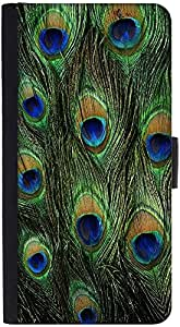 Snoogg Feather Pattern Graphic Snap On Hard Back Leather + Pc Flip Cover Htc ...