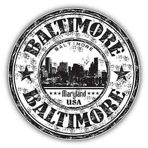Baltimore Maryland USA Grunge Rubber Stamp Car Decor Vinyl Sticker