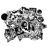 Oblique-Unique® Aufkleber ca. 100 Stück Sticker Graffiti Style Schwarz Weiß Reisen Skateboard Snowboard Vinylaufkleber Graffiti Laptop Gepäck Auto Fahrrad