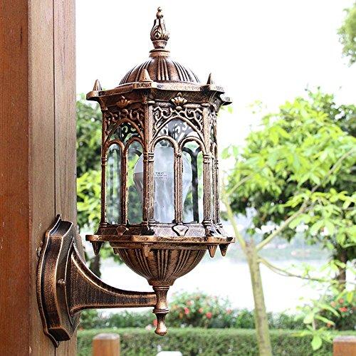 VanMe Retro Bronze Außenwand Laterne Wasserdichte Lampe Licht Leuchte Balkon Veranda Übertreffen (Swing Arm Wand Lampe Bronze)