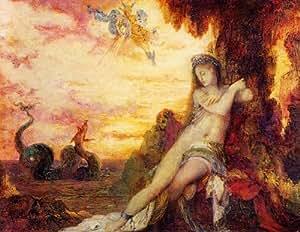 Huile sur toile - 32 x 25 inches / 81 x 64 CM - Gustave Moreau - Persée et Andromède 1
