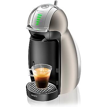 Krups KP160T Nescafe Dolce Gusto Genio2 - Cafetera monodosis automática, color plateado