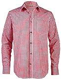 LIVERGY® Herren Trachtenhemd (rot/weiß - kariert, Gr. XXL - 45/46)