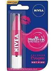 NIVEA Lip Crayon, COLORON Hot Pink, 3g