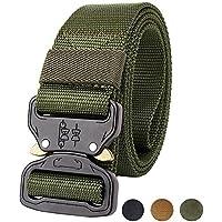 Militar-TLD Cinturon Tactico Ajustable Airsoft Painball Caza Combate táctico cinturón, cincha para estilo militar cinturón con hebilla metal Color OD Envio 24H