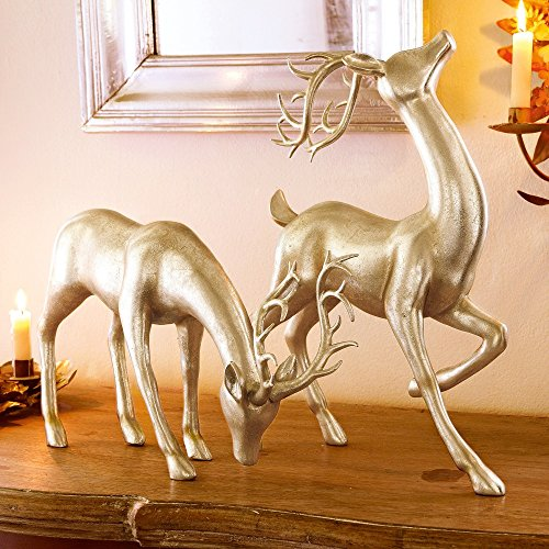 loberon-dekorative-hirsche-2er-set-rudys-mit-edlem-antik-finish-und-metallic-schattierungen-silber-g