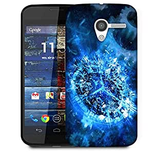 Snoogg Shattered Clock 2693 Designer Protective Phone Back Case Cover For Moto X / Motorola X