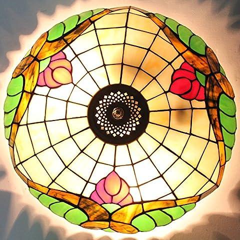 TOYM 16 pollici color Candy-arte di vetro scala a chiocciola karaoke sala da ballo e ville soffitto di Tiffany