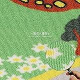 HIUGHJ Tapis Tapis Designer Runway Kids, exprimez-Le dans Carpet Children Cartoon, Le Tapis de la Ville Verte 150cm * 200cm
