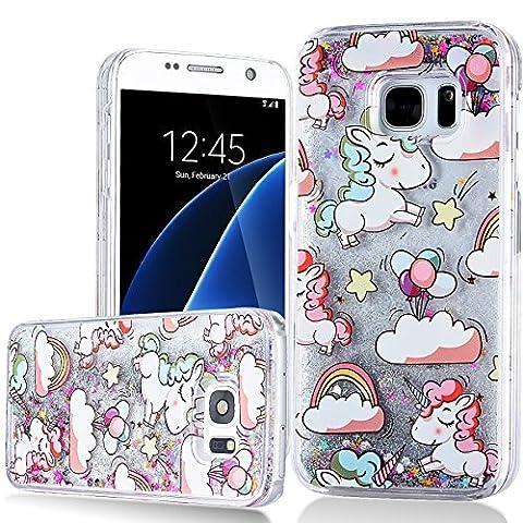 WE LOVE CASE Samsung S7 Hülle Einhorn , Galaxy S7